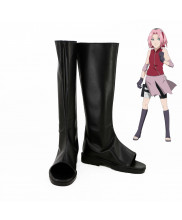 Naruto Sakura Haruno Cosplay Boots Black Shoes Custom Made