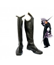 Kingdom Hearts II Xigbar Cosplay Boots Black Shoes Custom Made
