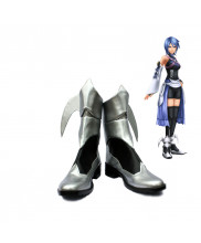 Kingdom Hearts Birth by Sleep Aqua Cosplay Shoes Silver Boots