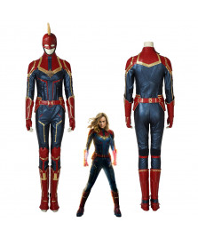Captain Marvel Ms. Marvel Carol Danvers Cosplay Costume Womens Halloween Outfit