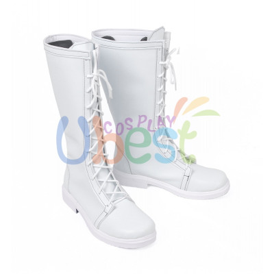 Cells at Work WBC White Blood Cell Leukocyte White Cosplay Shoes Boots Cos Shoes